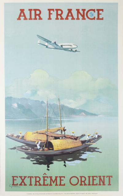 Affiche Rétro AIR FRANCE EXTREME ORIENT Dimensions : 100 x 63 cm