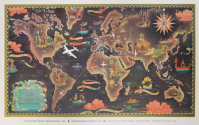 AFFICHE-AIR-FRANCE-PLANISPHERE-2570