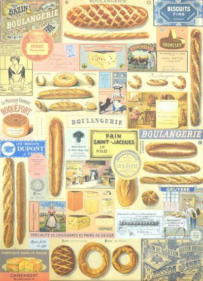 Affiche vintage  PAIN BOULANGERIE Dimensions : 70 x 50 cm