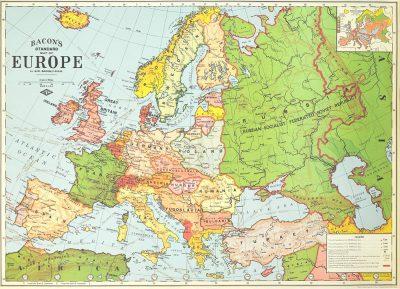 Affiche vintage  EUROPE EUROPE Dimensions : 50 x 70 cm