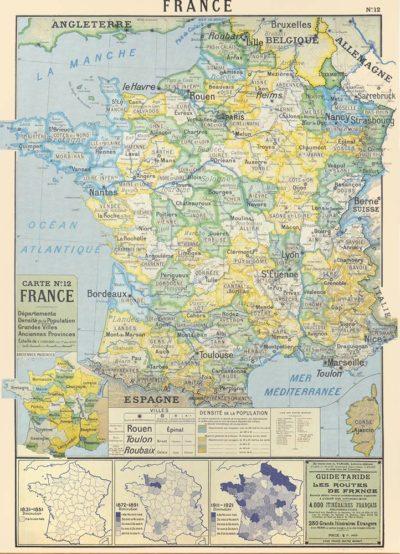 Affiche vintage  FRANCE FRANCE Dimensions : 70 x 50 cm