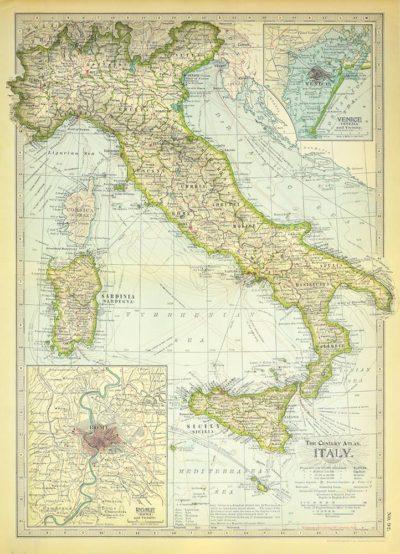 Affiche vintage  ITALIE ITALIE Dimensions : 70 x 50 cm