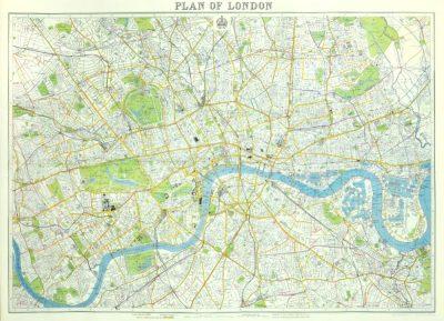 Affiche vintage  LONDRES LONDRES Dimensions : 50 x 70 cm