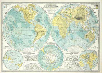 Affiche vintage  HEMISPHERES HEMISPHERES Dimensions : 50 x 70 cm