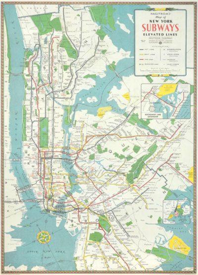 Affiche vintage  NEW YOORK METRO NEW YORK METRO Dimensions : 70 x 50 cm
