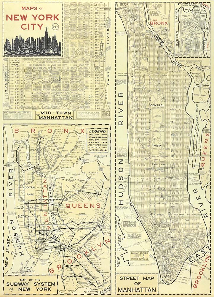 Affiche vintage  NEW YORK CITY NEW YORK CITY Dimensions : 70 x 50 cm