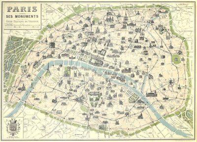 Affiche vintage  PARIS ET SES MONUMENTS PARIS ET SES MONUMENTS Dimensions : 50 x 70 cm