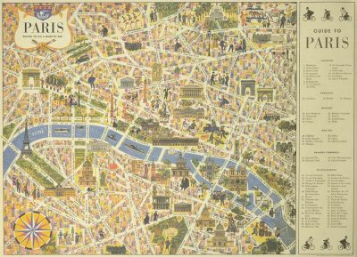 Affiche vintage  GUIDE DE PARIS GUIDE DE PARIS Dimensions : 50 x 70 cm