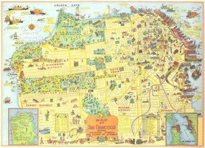 Affiche vintage  SAN FRANCISCO SAN FRANCISCO Dimensions : 50 x 70 cm