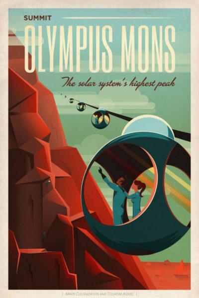 Affiche Rétro La Nasa OLYMPUS