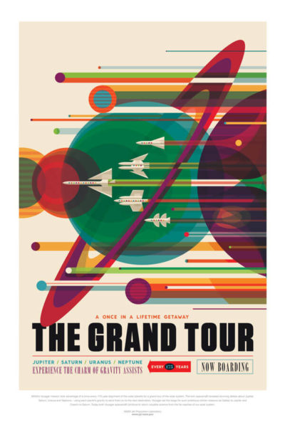 Affiche Rétro La Nasa  THE GRAND TOUR Dimensions : 70 x 50 cm