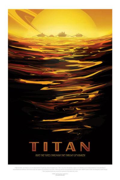 Affiche Rétro La Nasa  TITAN Dimensions : 70 x 50 cm