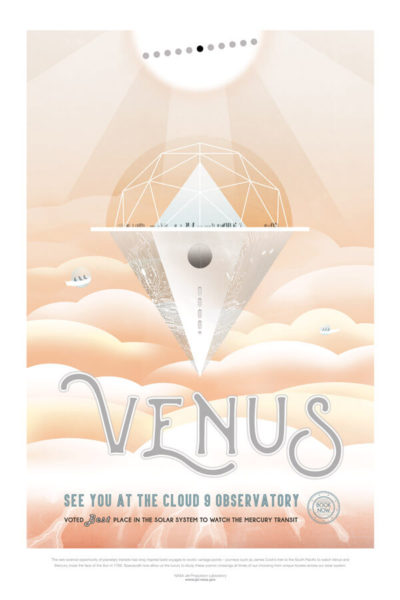 Affiche Rétro La Nasa  VENUS Dimensions : 70 x 50 cm