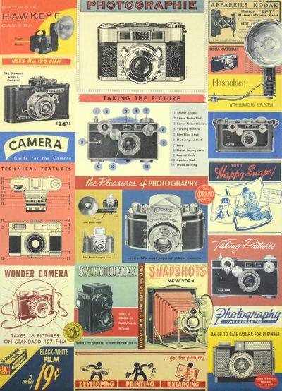 Affiche vintage  PHOTO PHOTOGRAPHIE Dimensions : 70 x 50 cm