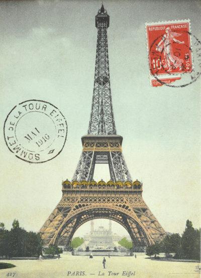 Affiche vintage  PARIS LA TOUR EIFFEL Dimensions : 70 x 50 cm
