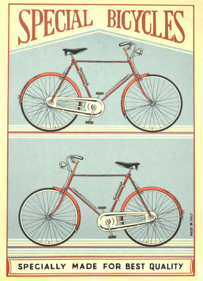Affiche vintage  VELO SPECIAL BICYCLES Dimensions : 70 x 50 cm