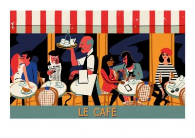 Affiche illustration ville Dimensions : 50 x 70 cm