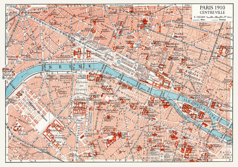 PLAN DE PARIS 1910