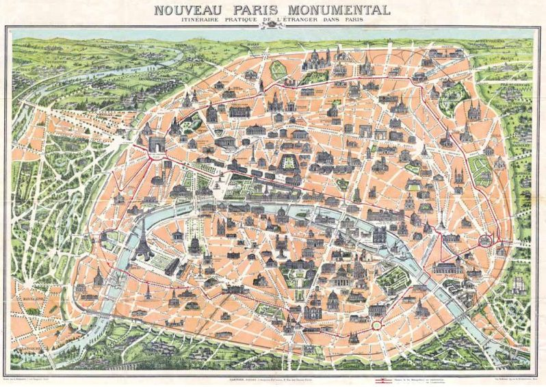 PLAN MONUMENTS PARIS